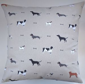 "Cushion Cover in Sophie Allport Woof 14"" 16"" 18"" 20"""